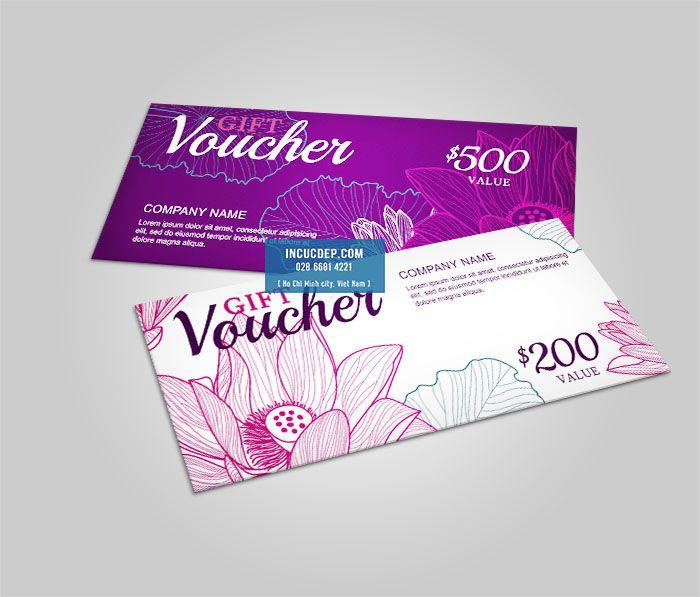 Mẫu voucher Spa thiết kế màu tím lãng mạn