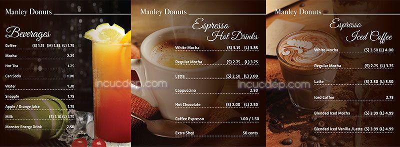 Thiết kế menu bảng sử dụng các hình đẹp chất lượng cao
