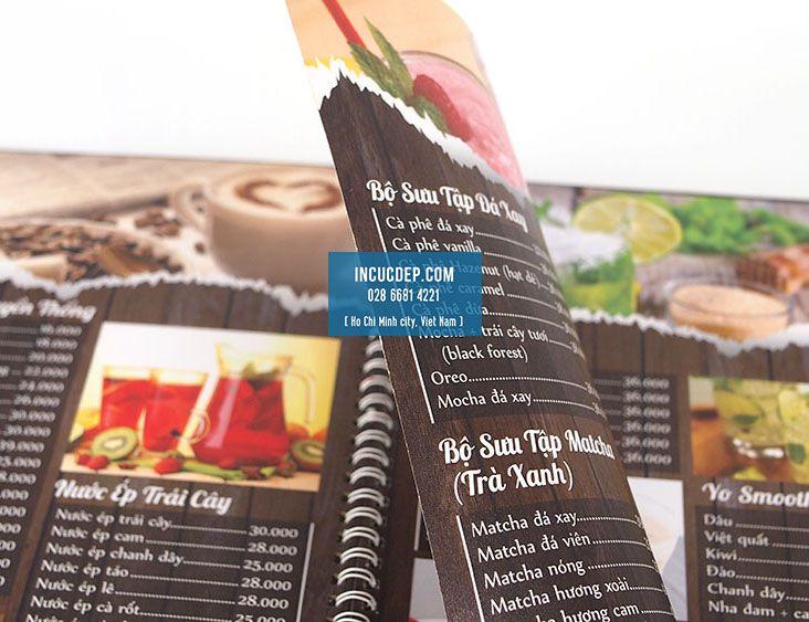 Mẫu thiết kế menu quán cà phê đẹp