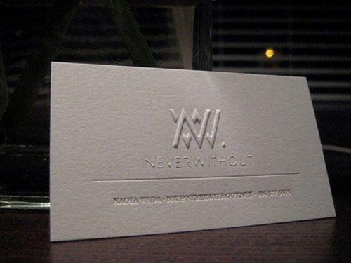 Name card dập nổi logo đẹp