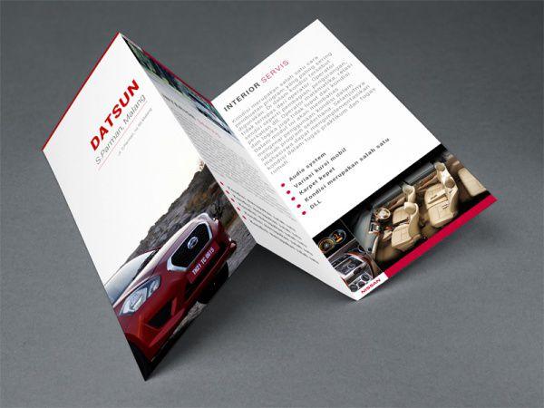Mẫu thiết kế brochure gấp 3 kiểu zích zắc