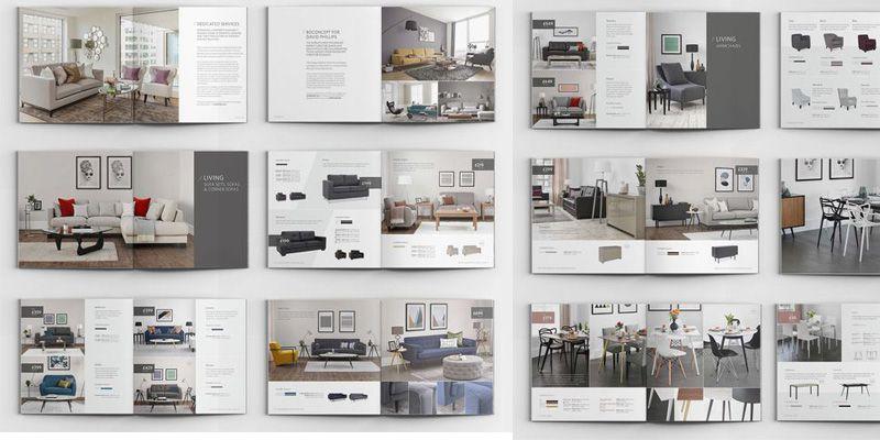 Ấn tượng với mẫu thiết kế catalogue bàn ghế