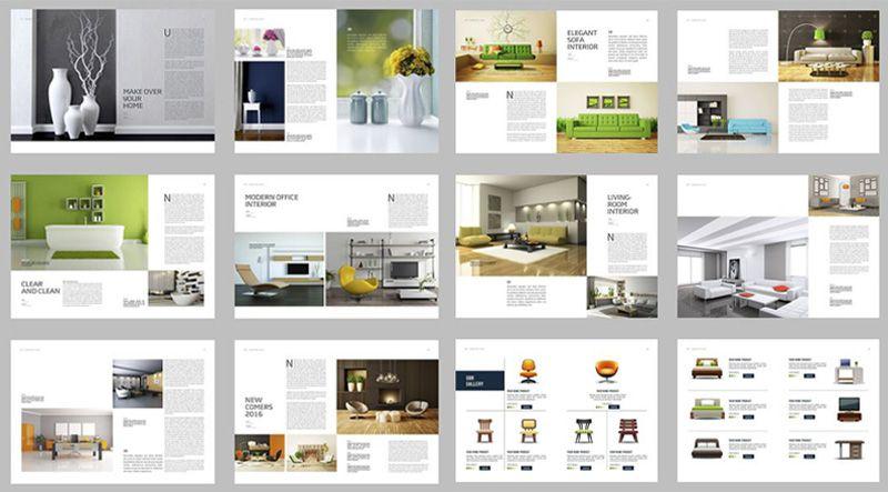 Thiết kế catalogue nội thất - catalogue A4 ngang