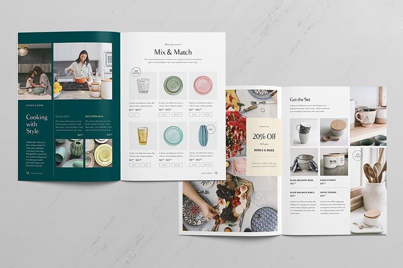 Mẫu thiết kế catalogue lĩnh vực nội thất