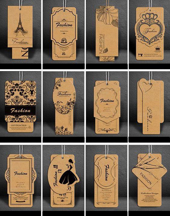 Mẫu thẻ treo đẹp in bằng giấy kraft