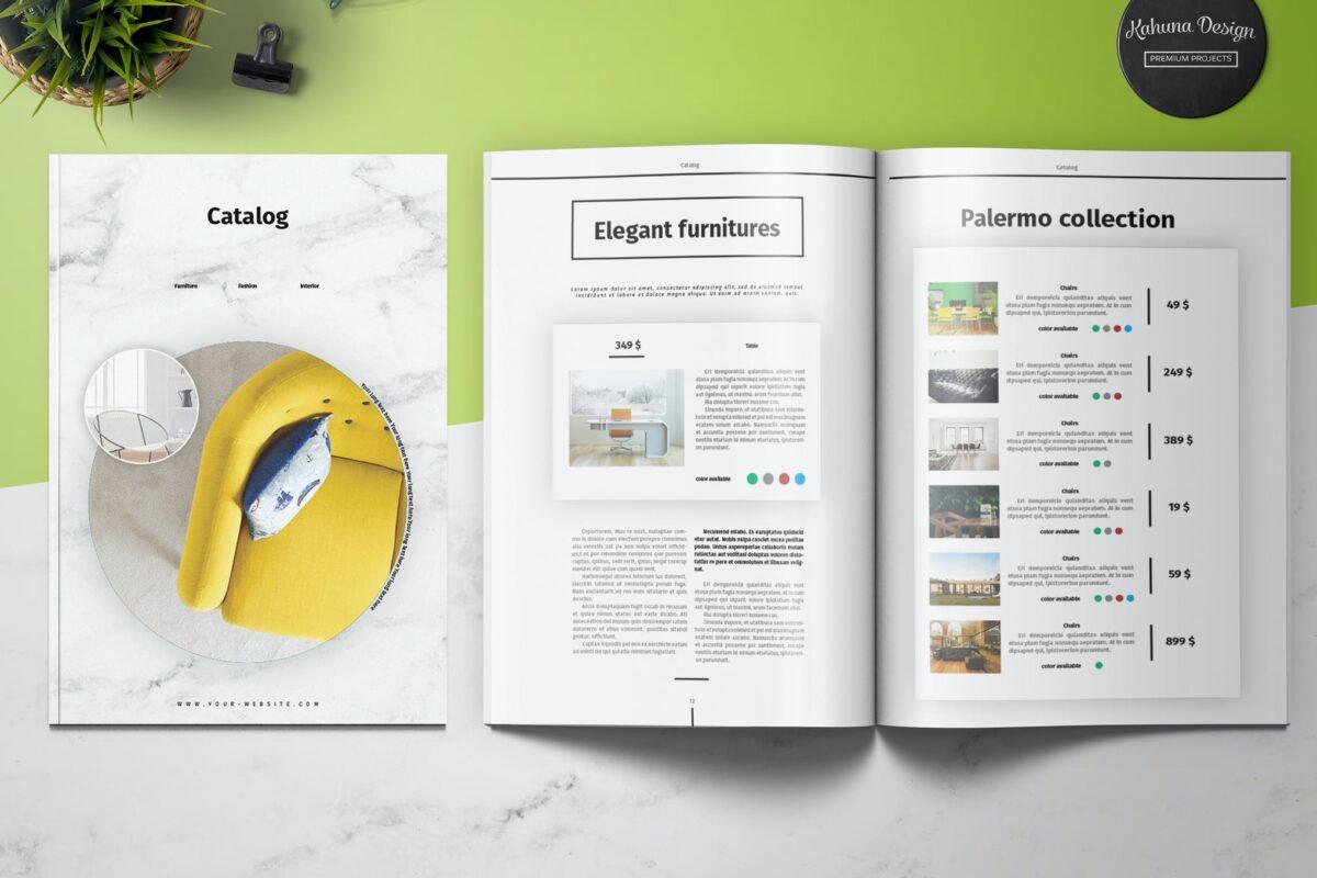Thiết kế & in brochure dạng cuốn