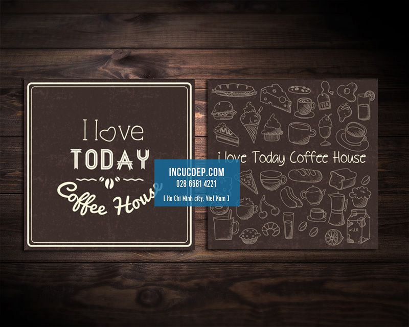 Thiết kế lót ly quán cafe I Love Today Coffee House