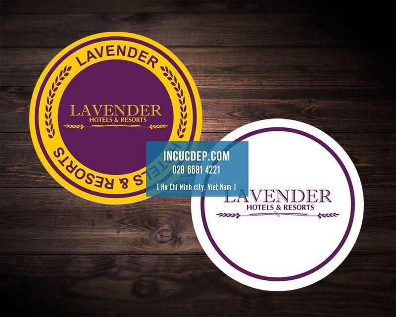 Thiết kế lót ly của Lavender Hotel & Resort