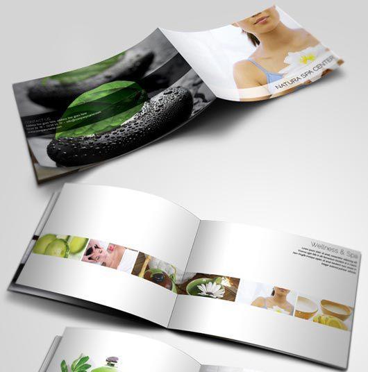 Mẫu in catalog thẩm mỹ khổ ngang đặc sắc