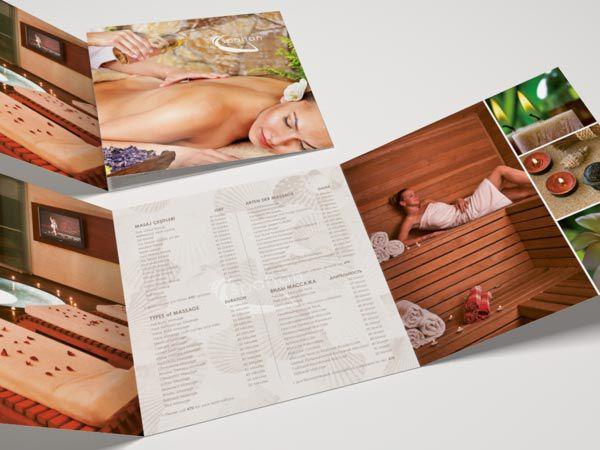 Mẫu catalog thẩm mỹ gấp 3 đơn giản nhưng ấn tượng