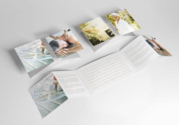 Mẫu in catalogue thẩm mỹ viện dạng gấp cửa sổ đặc biệt