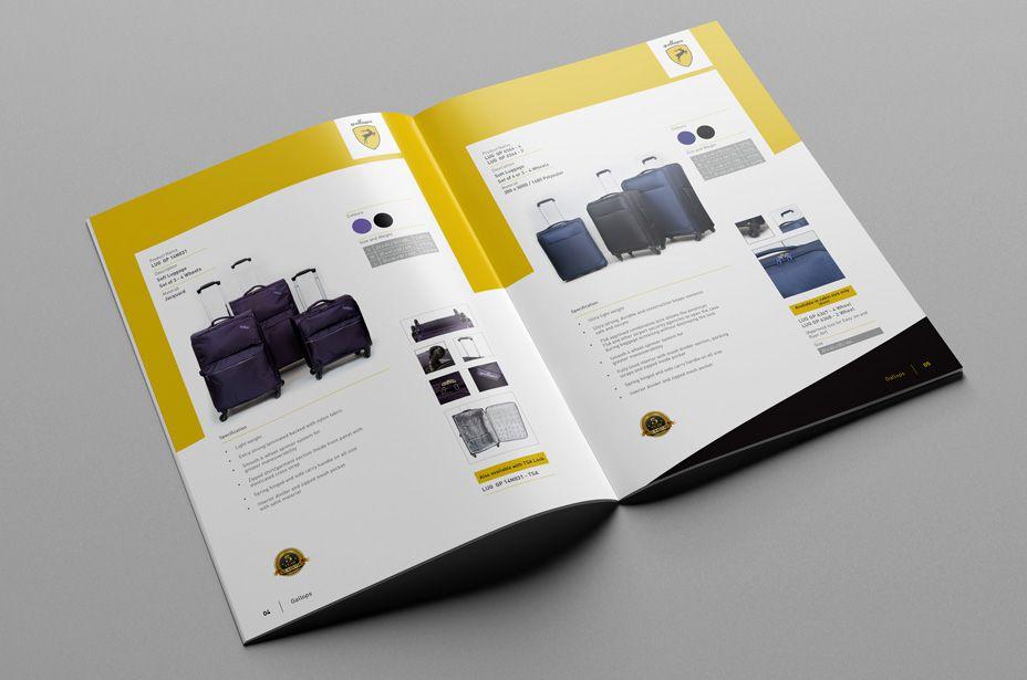Thiết kế catalogue vali ấn tượng