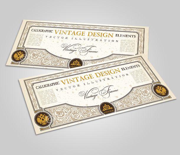 Thiết kế thẻ quả tặng - gift card vintage