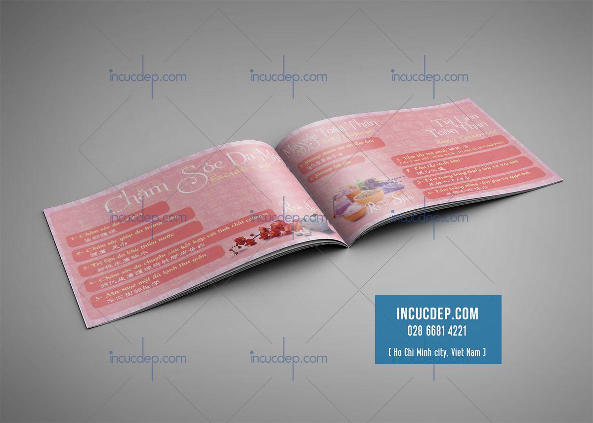 Thiết kế menu Rose Spa