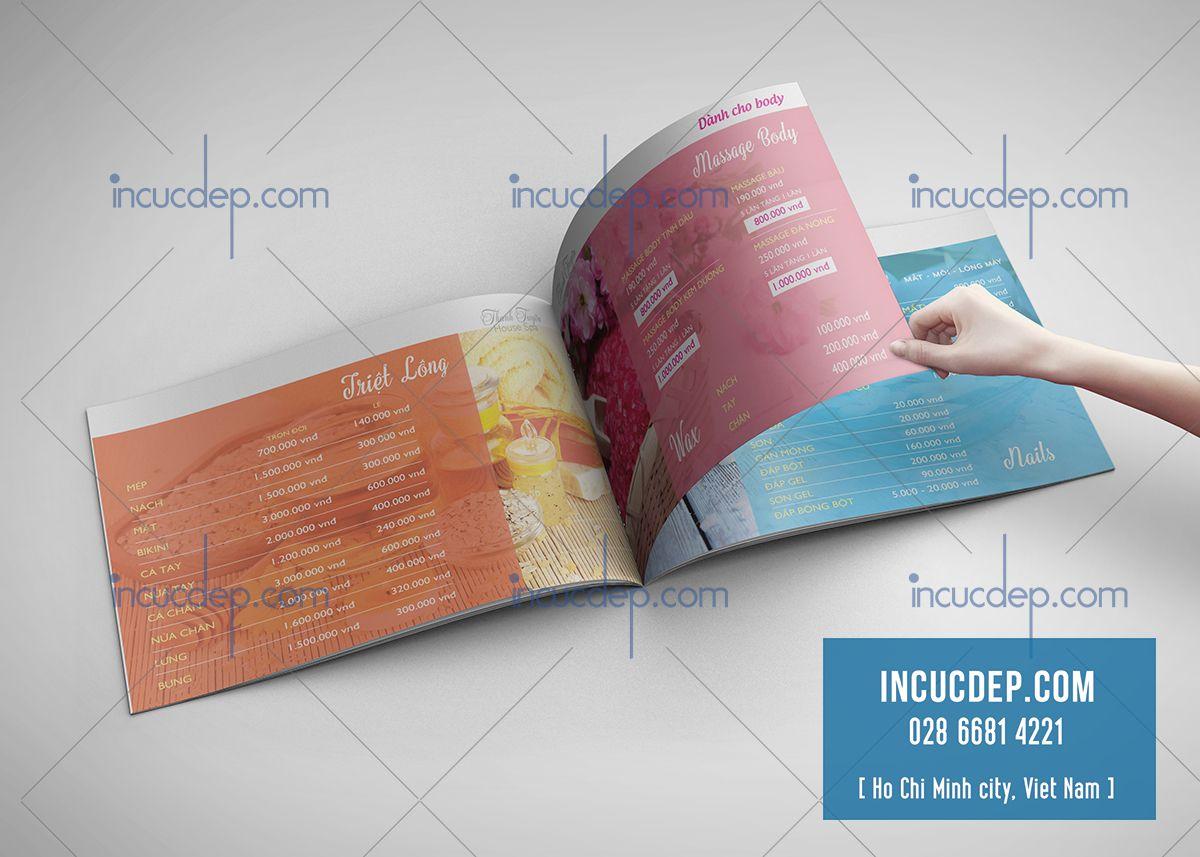 Thiết kế catalogue đẹp cho Spa