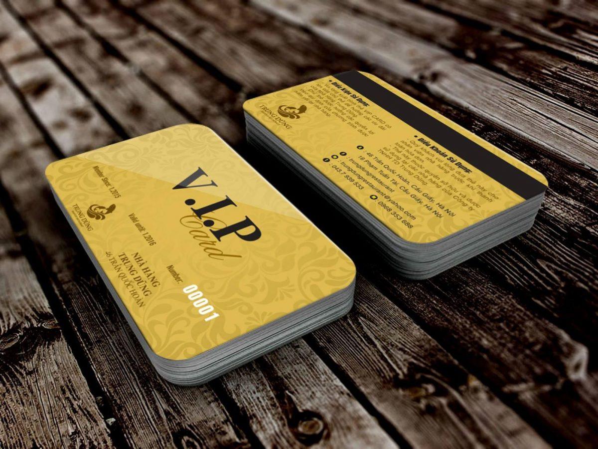 In thẻ thẻ VIP cao cấp chất lượng tại tphcm