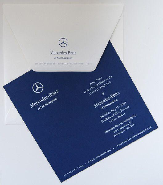 Thiệp mời ra mắt sản phẩm của Mercedes
