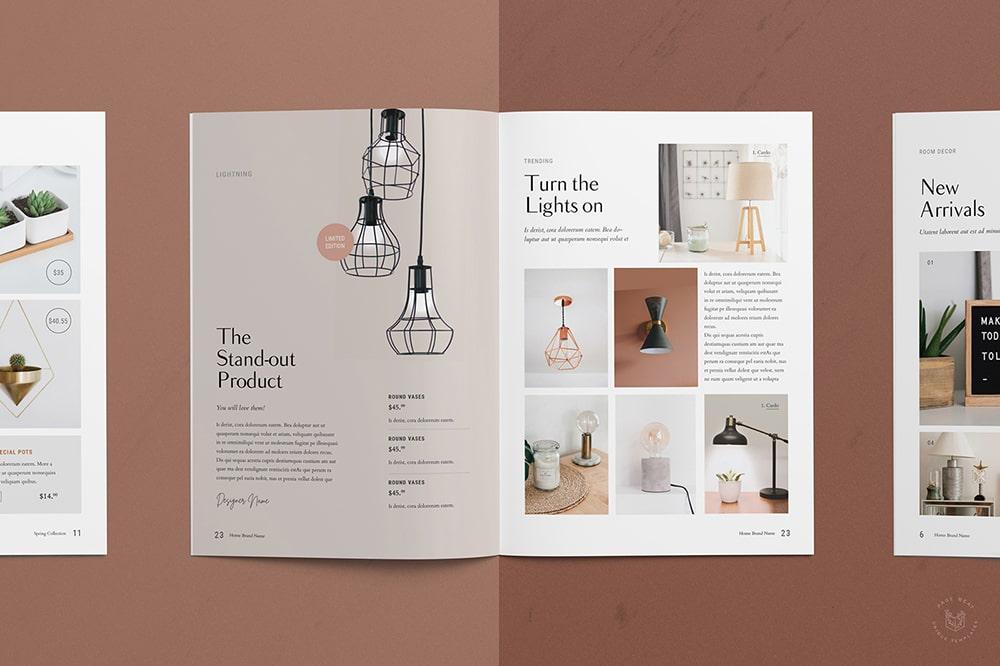 Thiết kế catalogue sản phẩm màu pastel