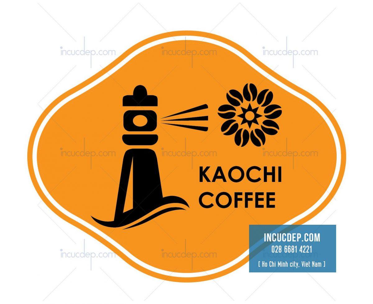 Logo quán cafe kết hợp đặc biệt giữa màu cam và đen
