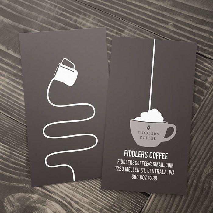Mẫu card đơn giản nhưng ấn tượng dành cho quán cà phê