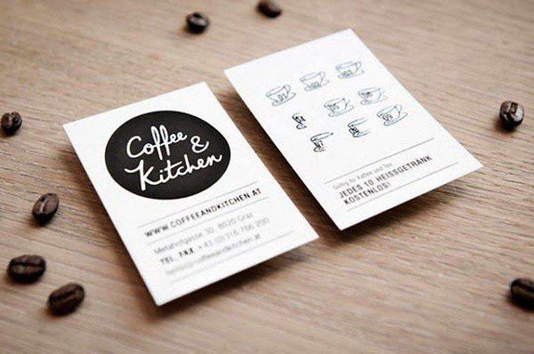Mẫu card kết hợp cùng thẻ tích điểm quán cafe