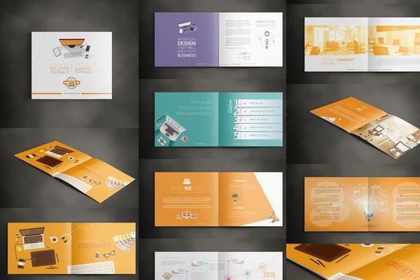 Ấn tượng hơn với mẫu thiết kế hồ sơ năng lực công ty đầy màu sắc