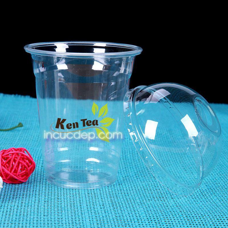 In logo dán ly giá rẻ với decal nhựa trong
