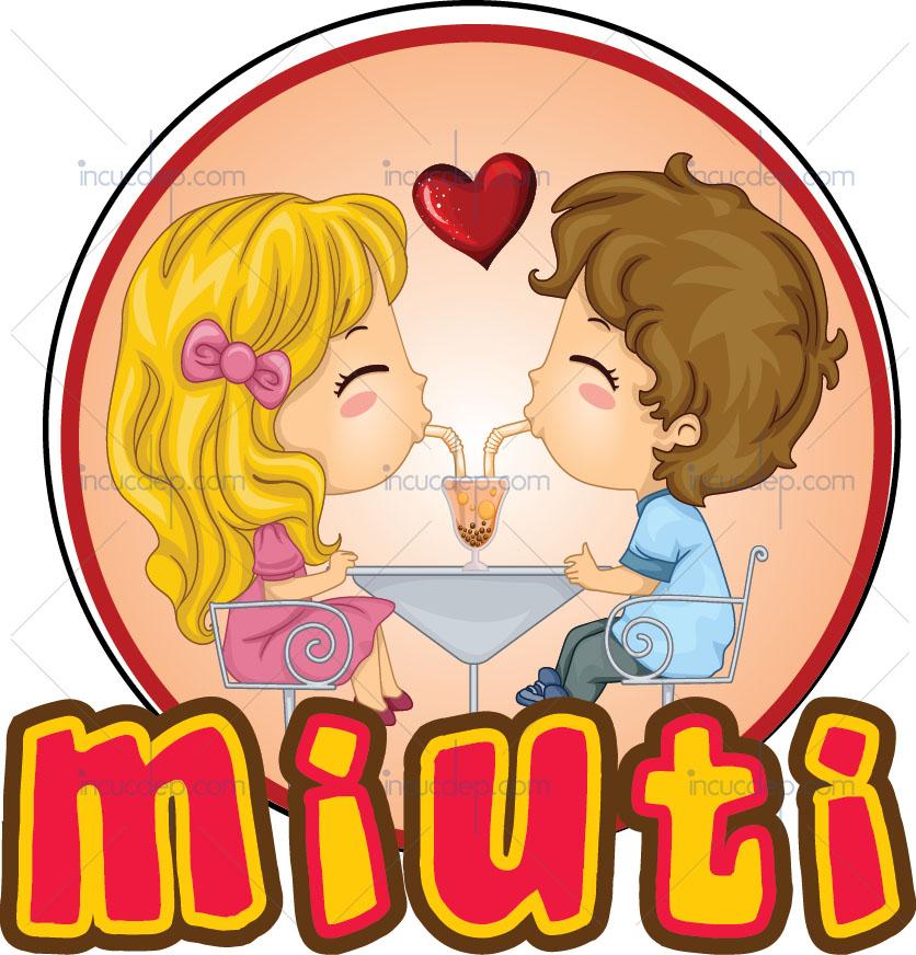 Logo quán trà sữa đẹp - trà sữa Miuti