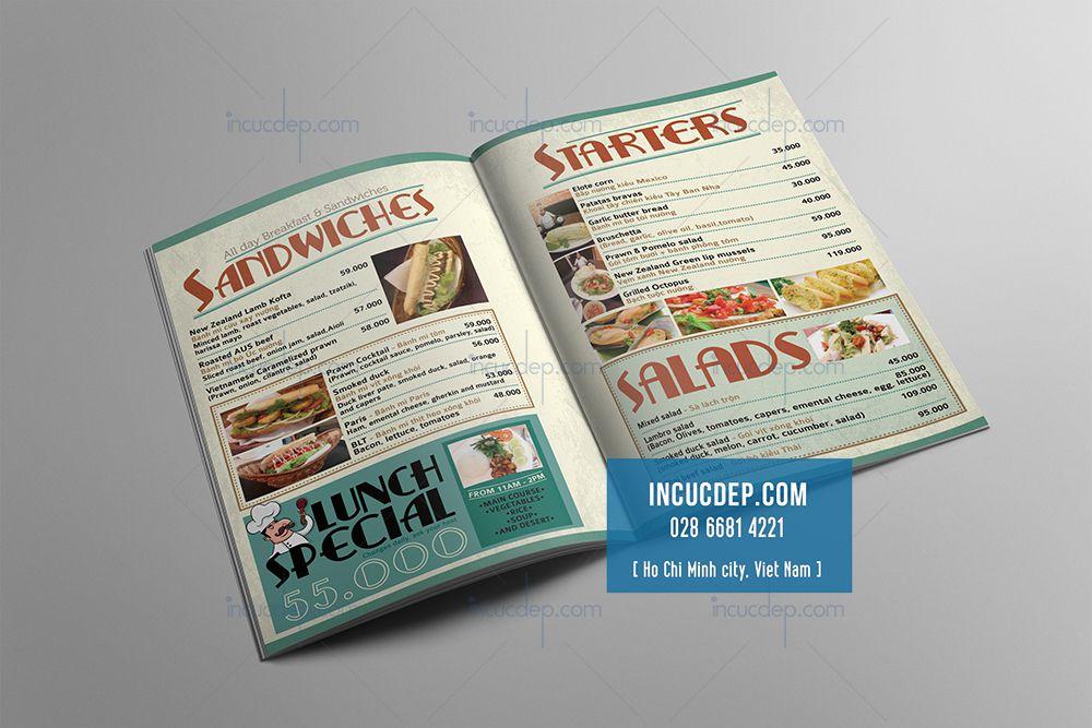 Mẫu thiết kế menu đẹp với phong cách bán cổ điển