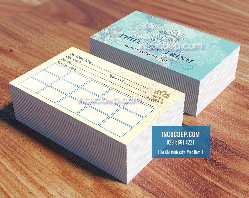 In phiếu liệu trình = kích thước card visit để giá rẻ hơn