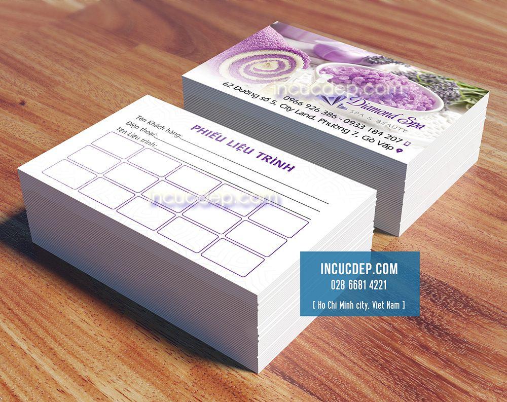 Mẫu in thẻ liệu trình giá rẻ kích thước card