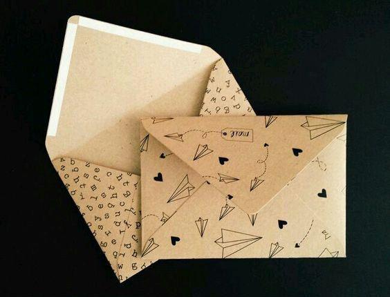 Mẫu in bao thư tam giác hình chữ nhật in giấy kraft