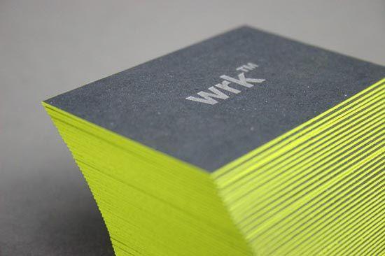 Mẫu in card visit viền cạnh màu xanh