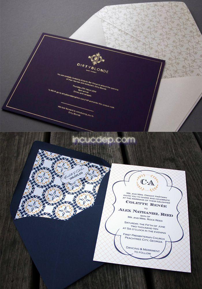 Mẫu thiệp mời đẹp với phong cách đơn giản sang trọng