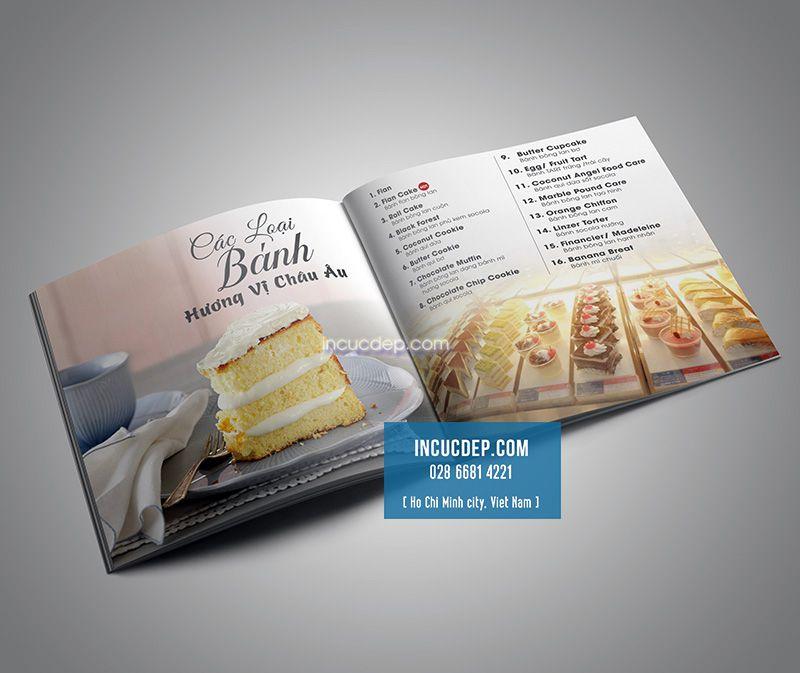 Phần design menu bánh ngọt