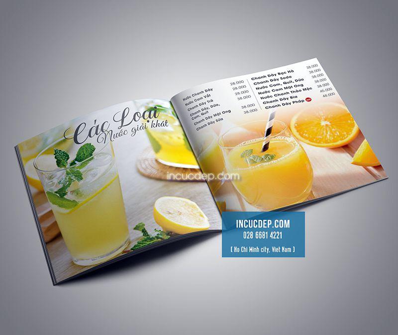 Chọn những hình ảnh đẹp sẽ giúp menu trong thu hút hơn