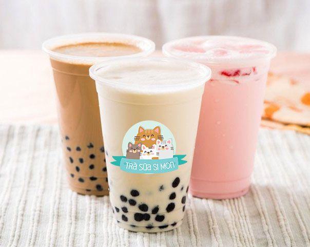 Mẫu thiết kế milk tea dễ thương