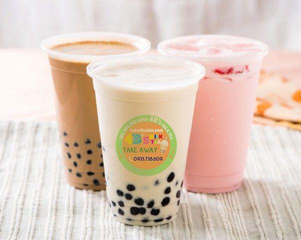 In nhãn dán trà sữa - tem dán trà sữa rẻ đẹp tại hcm