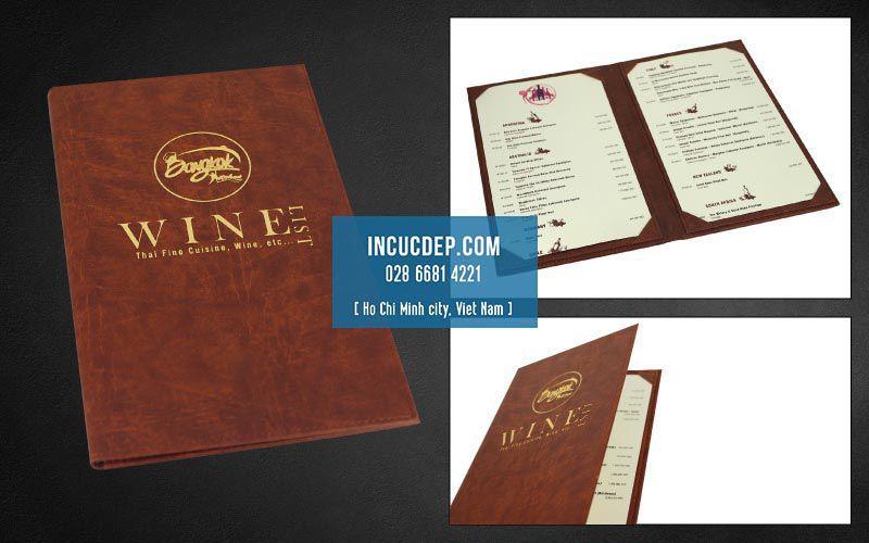 Dạng menu thay giá - menu nẹp 4 gốc
