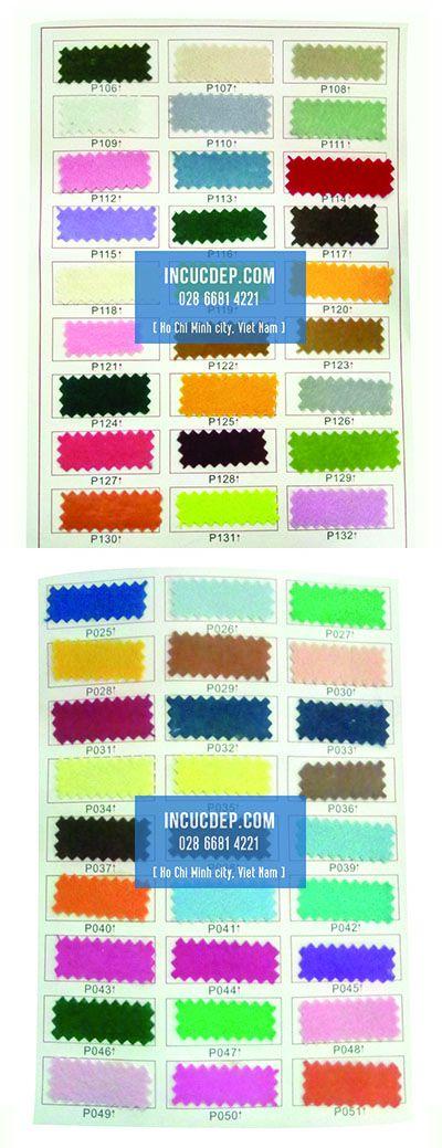 Chọn màu vải nỉ từ bảng màu vải mới nhất
