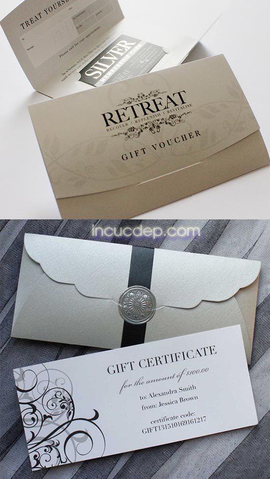 Làm voucher kèm bao thư đặc biệt