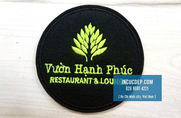 Lót ly nhà hàng Vườn Hạnh Phúc