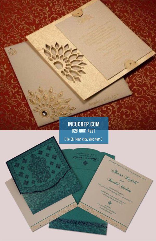 Thiệp kiểu Ấn với hoa văn họa tiết ấn tượng