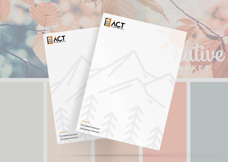 Mẫu thiết kế letterhead đẹp dành cho công ty