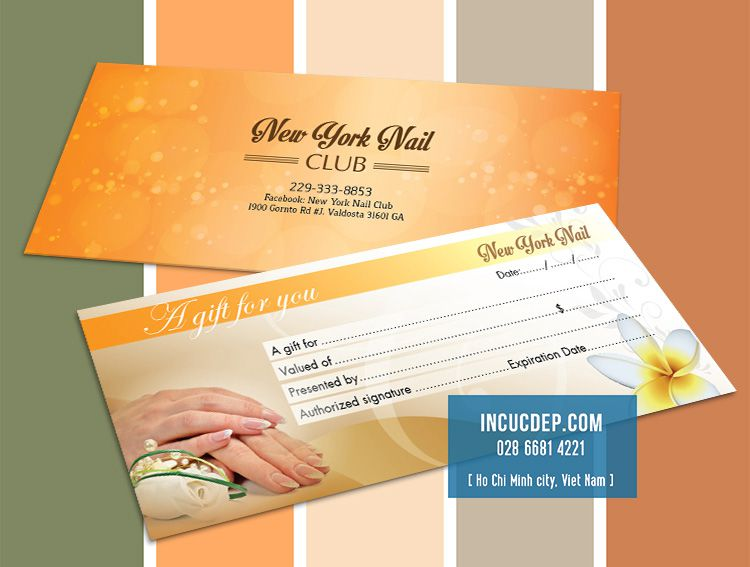 In gift voucher Nail Spa - New York Nail