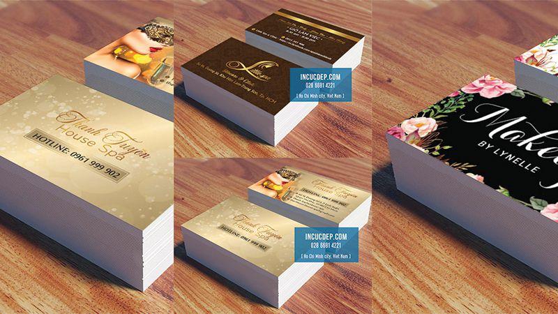 Card visit spa - name card spa - danh thiếp cho spa