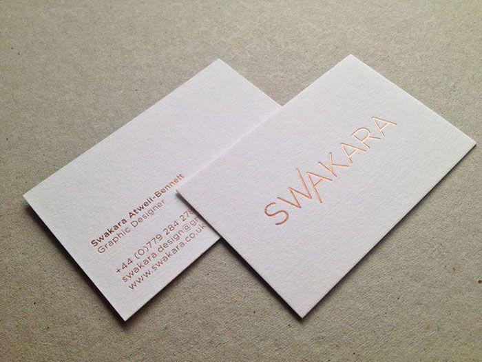 In card ép kim số lượng ít trên giấy mỹ thuật