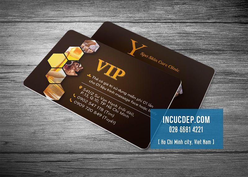 Mẫu thiết kế VIP card - thẻ VIP cho spa bằng nhựa cao cấp
