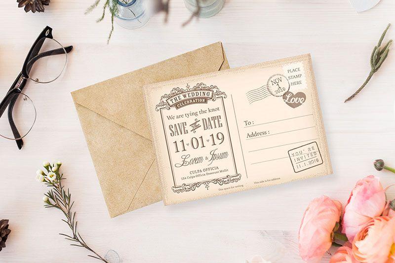 Kiểu thiết kế thiệp mời dạng post card