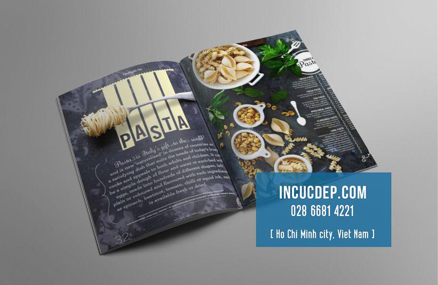 Thiết kế thực đơn nhà hàng Pasta
